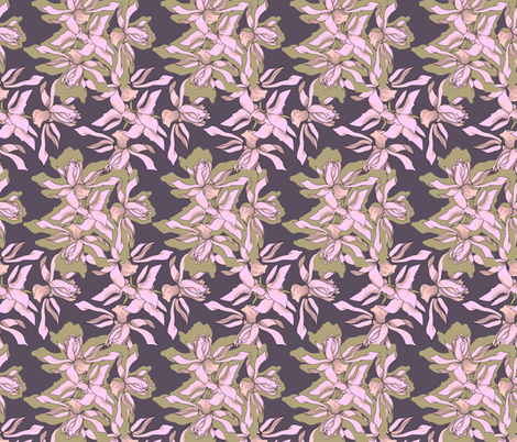 pink irises fabric by isabella_asratyan on Spoonflower - custom fabric