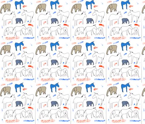 donkeys and elephants fabric by isabella_asratyan on Spoonflower - custom fabric