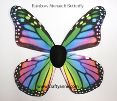 Rainbow Monarch Butterfly Costume Wings
