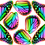 Rainbow Monarch Butterfly Costume Wings