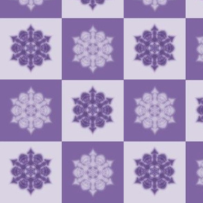 snowflake checkers (purple)