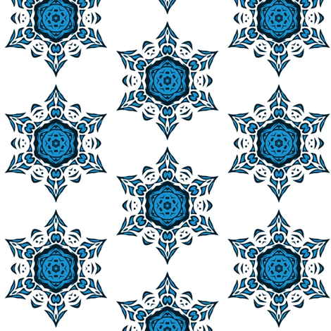 tribal snowflake (blue)