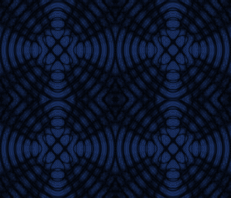 Dark Blue And Black Celtic Diffraction fabric by onestitchdesigns on Spoonflower - custom fabric