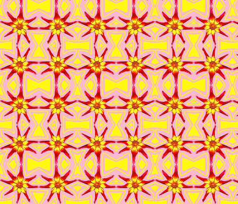 Bright Dahlia Check fabric by robin_rice on Spoonflower - custom fabric