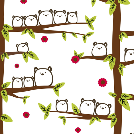 Gum Bear Forest fabric by cutekotori on Spoonflower - custom fabric