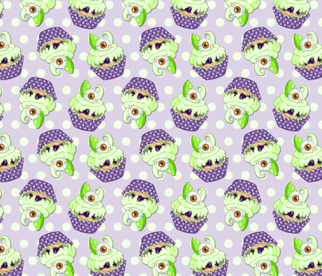 Key L-eye-me Cupcake Monster fabric by boogervampire on Spoonflower - custom fabric