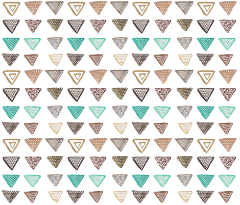Triangles fabric by kelly_tucker on Spoonflower - custom fabric