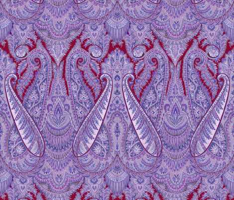 Paisley Sublime ~ Dusk fabric by peacoquettedesigns on Spoonflower - custom fabric