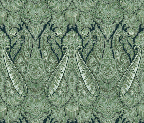 Paisley Sublime ~ The Moon Moth fabric by peacoquettedesigns on Spoonflower - custom fabric
