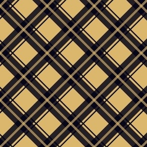 khaki and navy plaid