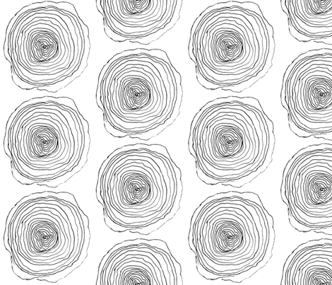 Rings in Wood fabric by kansas_vintage on Spoonflower - custom fabric
