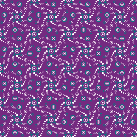 Tiny Bubbles-Grape fabric by jjtrends on Spoonflower - custom fabric