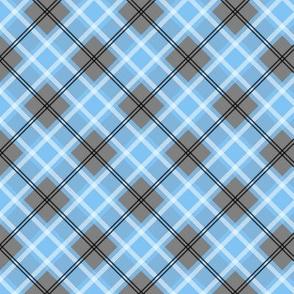 Preppy light blue & grey plaid