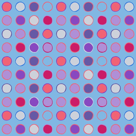 polka spots - spring tulip blue fabric by coggon_(roz_robinson) on Spoonflower - custom fabric