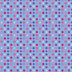 polka spots - spring tulip blue