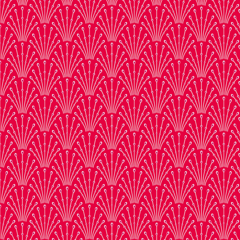 Art deco beads - red fabric by coggon_(roz_robinson) on Spoonflower - custom fabric