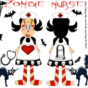 ZOMBIE NURSE CUT & SEW DOLL