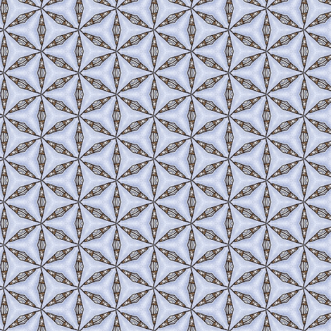 Sinicha's Interlocking Caltrops fabric by siya on Spoonflower - custom fabric