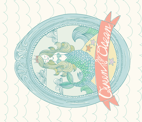 Queen of the Ocean fabric by stacyiesthsu on Spoonflower - custom fabric