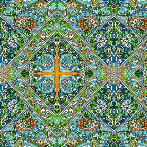 The Tree of Life fabric by edsel2084 on Spoonflower - custom fabric