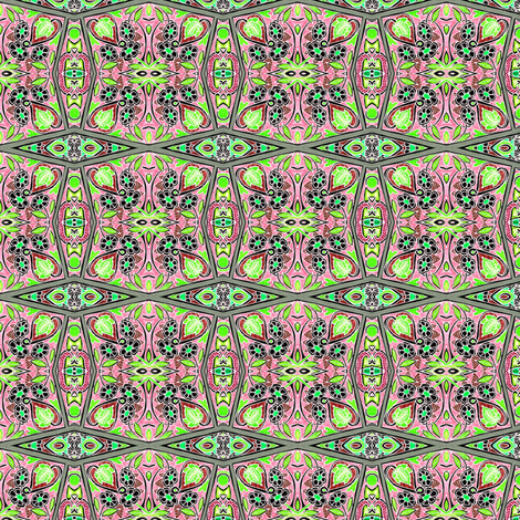 Tarnished Pink And Green Country Daisy Patch fabric by edsel2084 on Spoonflower - custom fabric