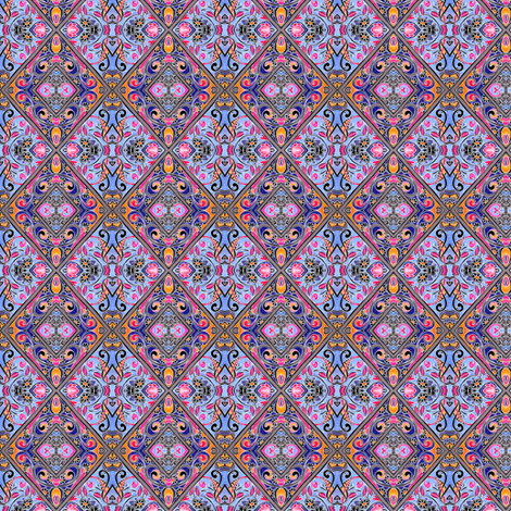 Sweet Baby Jane (Mini Patchwork Diamonds) fabric by edsel2084 on Spoonflower - custom fabric