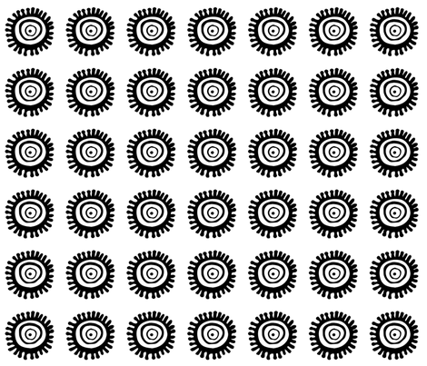 Daisywheels fabric by wiccked on Spoonflower - custom fabric