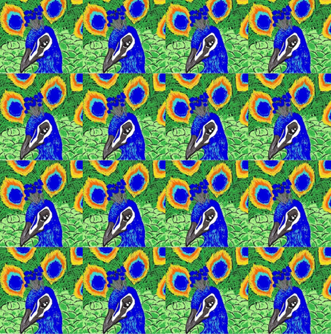Peacock fabric by andybee on Spoonflower - custom fabric