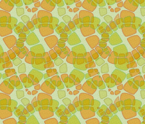 zoic citrus fabric by glimmericks on Spoonflower - custom fabric