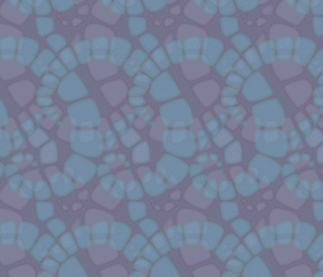 zoic_hyacinth fabric by glimmericks on Spoonflower - custom fabric