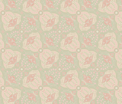 Basket Full Of Posies Paisley ~ Kirsten fabric by peacoquettedesigns on Spoonflower - custom fabric