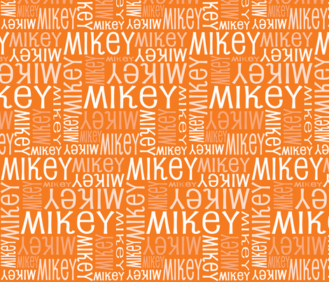 Personalised Name Fabric - Robot Orange