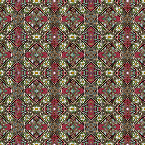Spartan Tartan Daisy Chain fabric by edsel2084 on Spoonflower - custom fabric