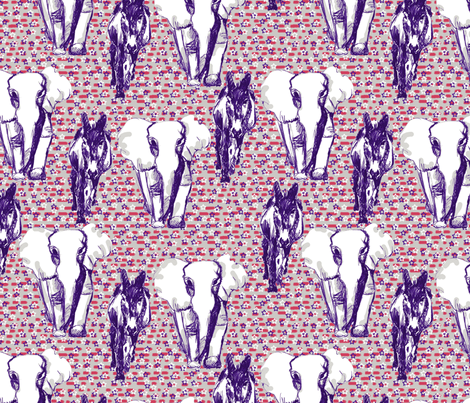 donkey_elephant fabric by alised on Spoonflower - custom fabric