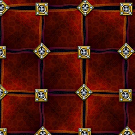 leather armor squares with brass and steel studs fabric by glimmericks on Spoonflower - custom fabric