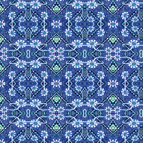Blue Jean Princess of Kansas fabric by edsel2084 on Spoonflower - custom fabric