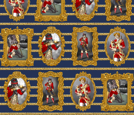 Large Redcoat Portraits fabric by ninniku on Spoonflower - custom fabric