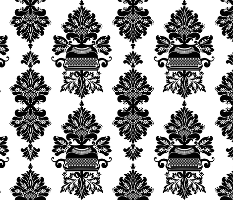 Barok Typewriter fabric by kimsa on Spoonflower - custom fabric