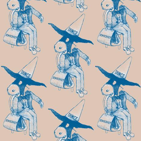 Donkey Dunce fabric by paragonstudios on Spoonflower - custom fabric