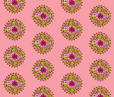 pink mandala fabric by dnbmama on Spoonflower - custom fabric