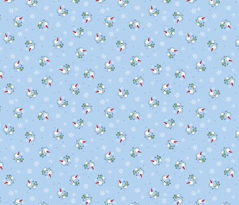 SnowManCollctn1PRINT fabric by andi_butler on Spoonflower - custom fabric