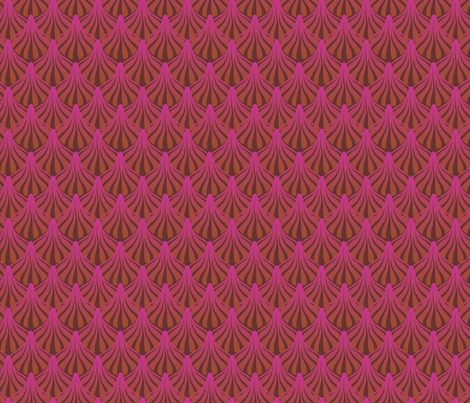 fanout_raspberry_cocoa fabric by glimmericks on Spoonflower - custom fabric