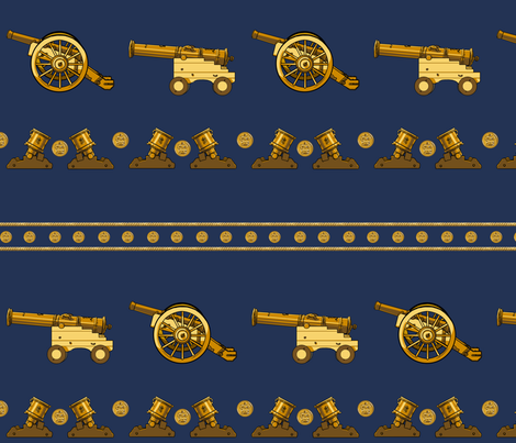 Canon Line Up- Gold Large fabric by ninniku on Spoonflower - custom fabric