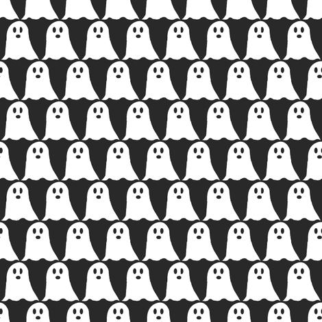 The Ghostest With the Mostest fabric by brandymiller on Spoonflower - custom fabric