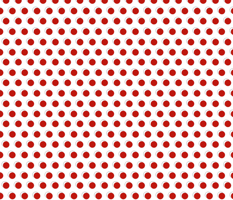 apple red dots fabric by mojiarts on Spoonflower - custom fabric