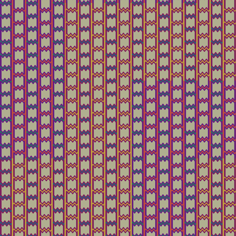 Persian Chevron fabric by david_kent_collections on Spoonflower - custom fabric