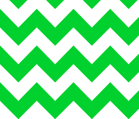 green chevron fabric by mojiarts on Spoonflower - custom fabric
