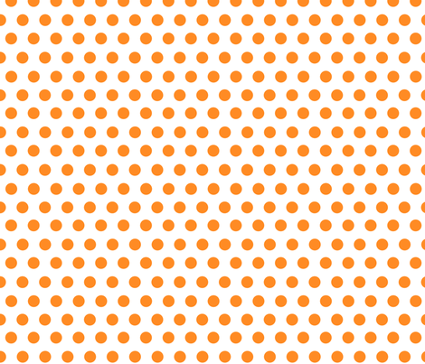orange dots fabric by mojiarts on Spoonflower - custom fabric