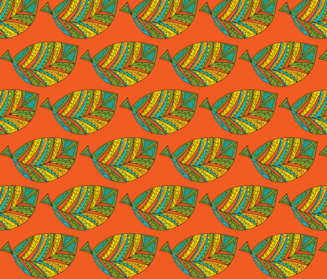 bahia leaf-orange fabric by dnbmama on Spoonflower - custom fabric