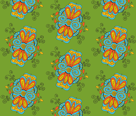 swirly green fabric by dnbmama on Spoonflower - custom fabric